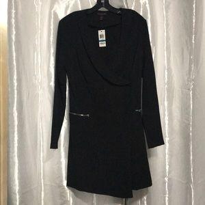 Material girl tuxedo dress